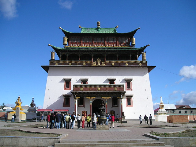 Temple of Boddhisattva at Ganden Monastery, Ulaanbaatar