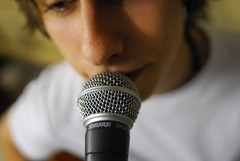 microphone, close-up, audio equipment, eye,