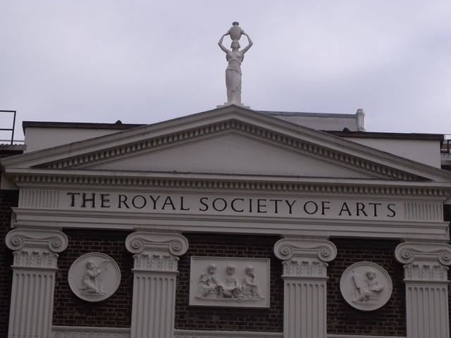 Royal Society of Arts - from the Strand, London