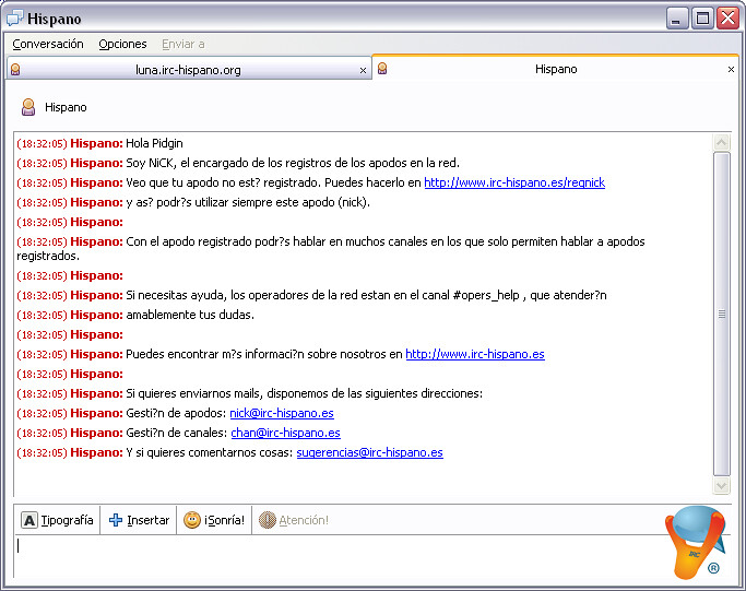 El nuevo chat de Terra en versión Flash, proporcionado por Chat Hispano