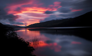 loch earn sunrise 4th March 2014