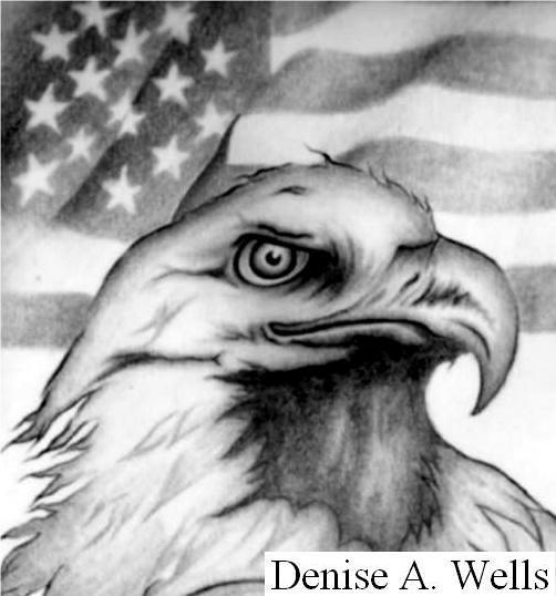 American Eagle Flag Tattoo