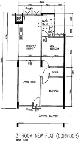 Singapore watch blog archive hdb flat types models for 3 room flat floor plan