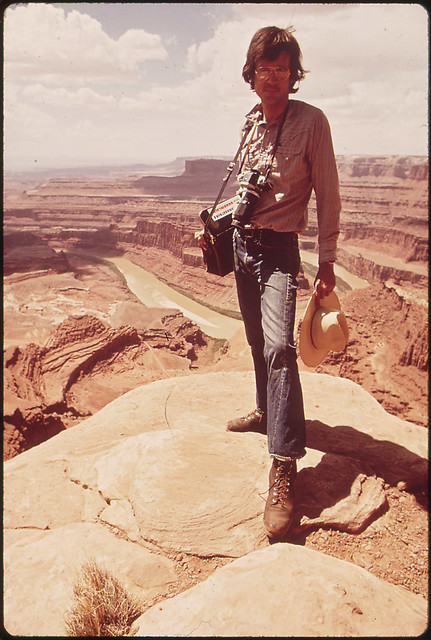 Documerica Photographer, David Hiser, at Dead Horse Point, 05/1972