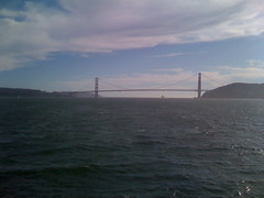 Golden Gate bridge from ferry