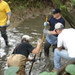 During 9/12/09 - Volunteers assisting at the Bread & Cheese Creek Clean-up