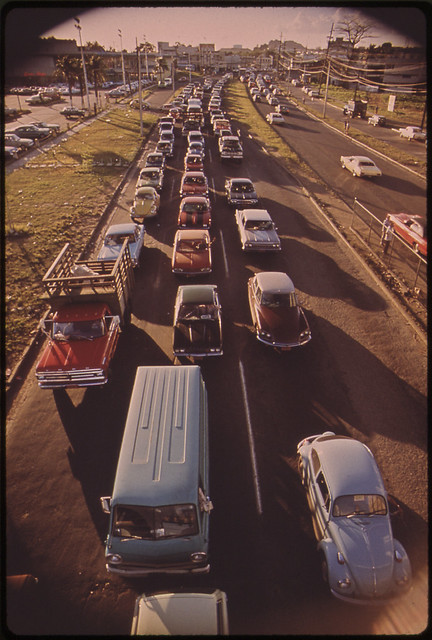 5.P.M. Traffic on Route 2 in Bayamón 02/1973