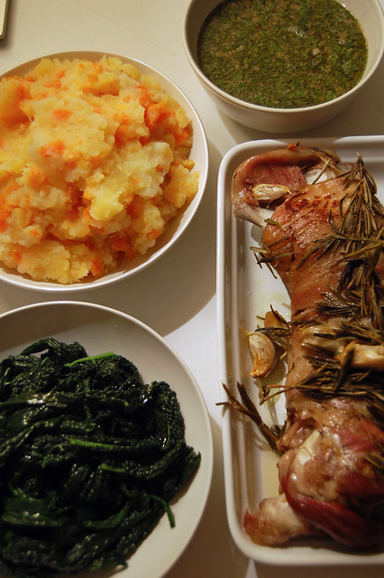Slow Roasted Lamb Shoulder Dinner   Flickr - Photo Sharing!