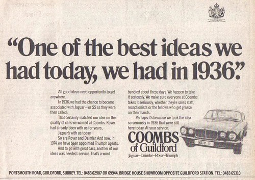 COOMBS OF GUILDFORD ADVERT 1974