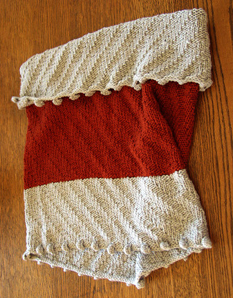Knitty cowl with bobbles