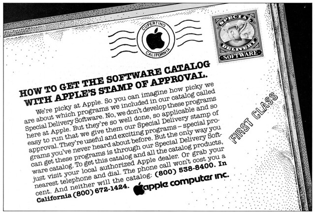 Apple advertisement from Personal Computing 9/81