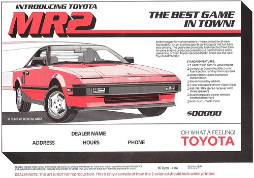 TOYOTA MR2 PRICE