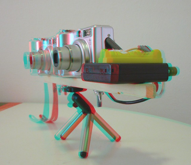Variable Base Stereo Rig (Anaglyph 3D)
