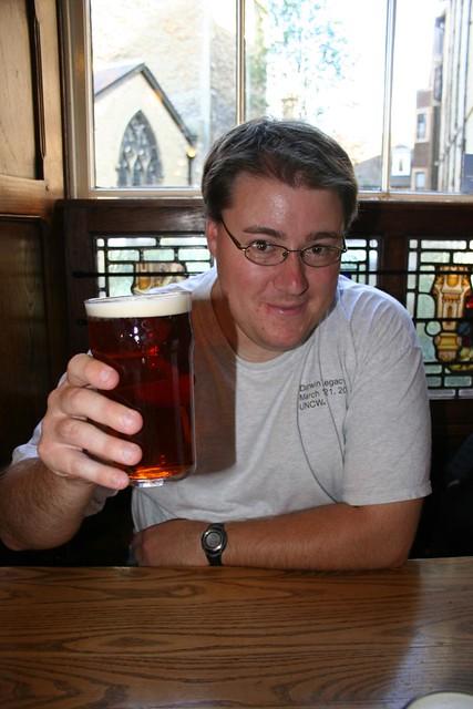 Michael Barton's first pint