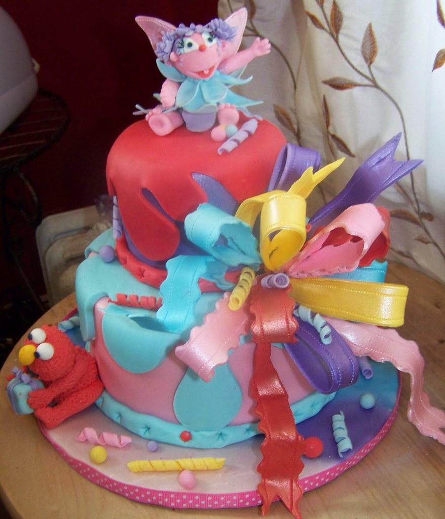ABBY CADABBY ELMO THEMED CAKE By Sue