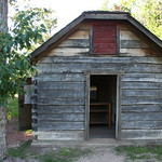 Exterior of the historic Finnish Log Cabin Sauna