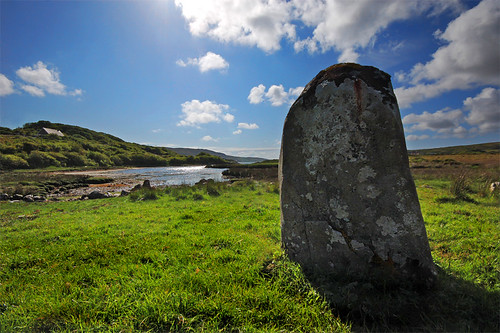 ireland galway megalithic connemara megalith standingstone letterdeen