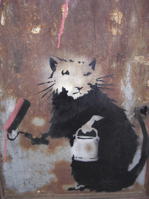 Banksy rat flickr photo sharing for Banksy rat mural