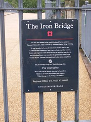 Photo of Iron Bridge, Abraham Darby III, and Thomas Pritchard black plaque