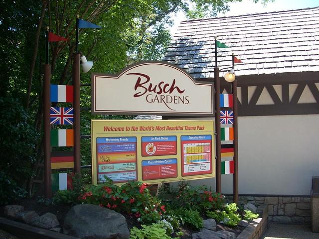 Busch Gardens Entrance Sign Flickr Photo Sharing