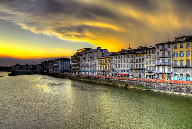 Cool clouds over the Arno River