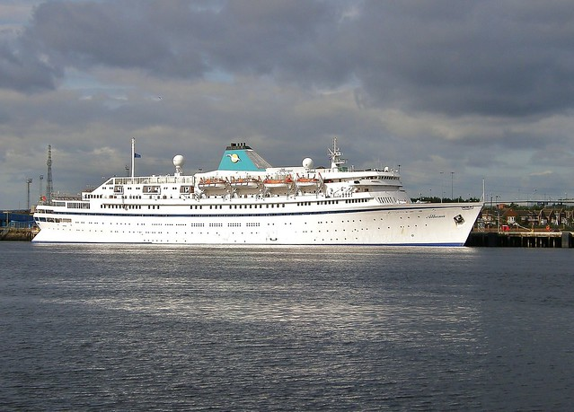 Cruise Ship 'Athena' at North Shields, River Tyne, UK on 30th August 2009