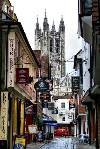 uk england tower tourism kent cathedral unitedkingdom canterbury historical streetsigns cathedralcity touristdestination mywinners larigan phamilton butcherylane welcomeuk