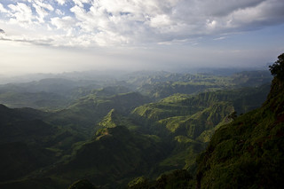 Sunset on the Simien Mountains
