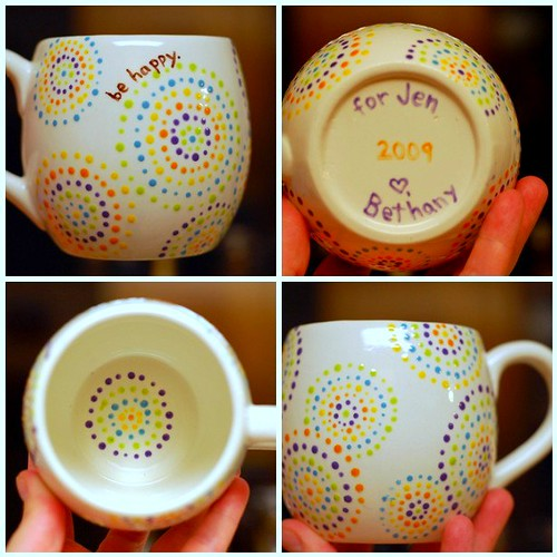 Bethany actually blog archive dottery mugs pens for How to paint ceramic mugs at home