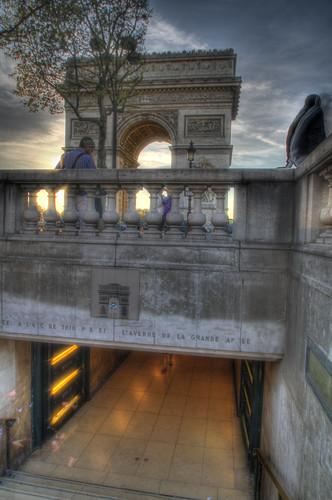 Underground passage to the Arc de Triomphe