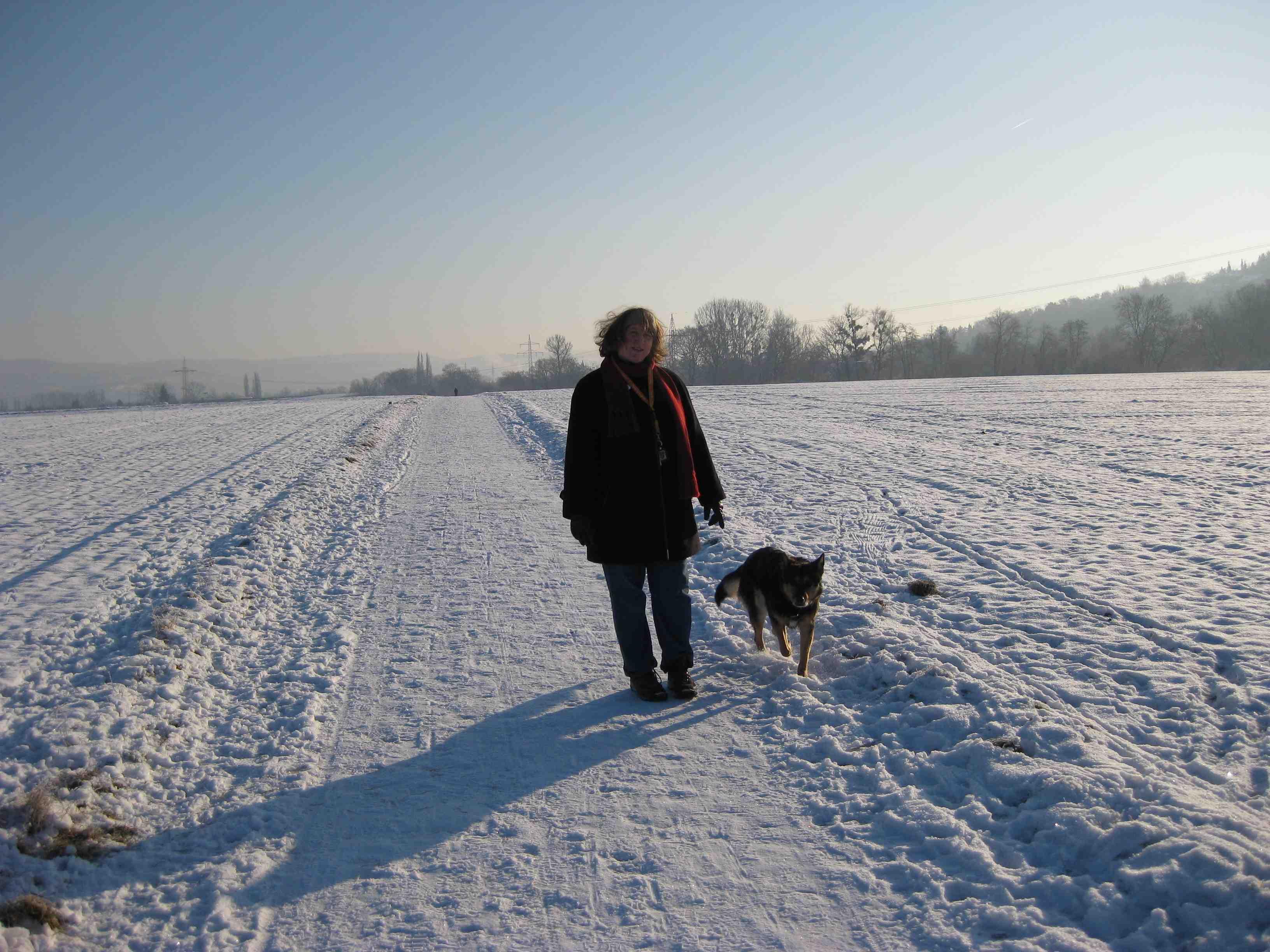 Jayne und Albi und Schnee