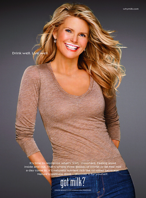 Christie Brinkley Milk Mustache ad