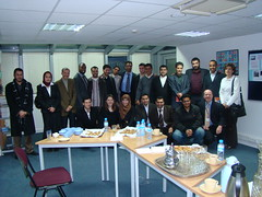 Delegates with Imams from an English-language programme