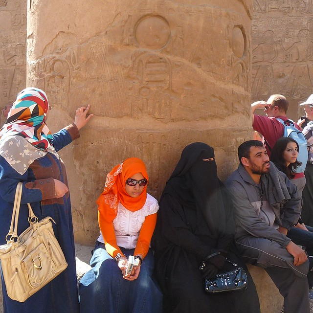 Egyptians getting in touch with their 5000 years old history
