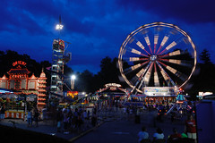 Summer fairground