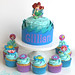 Little Mermaid Birthday Cakes by Glorious Treats