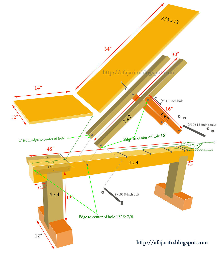 How To Build Wooden Weight Bench Plans Pdf Plans