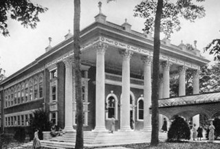 Image of National Park Seminary. md maryland historic gymnasium historicpreservation thenandnow historicdistrict vintagephoto forestglen nationalparkseminary historicphoto nrhp nationalregsiter nationalparkcollege