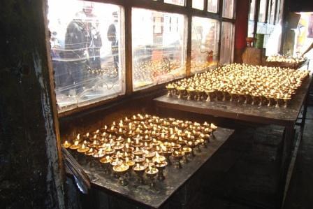 Votive lights, Lhasa, Dec 2007