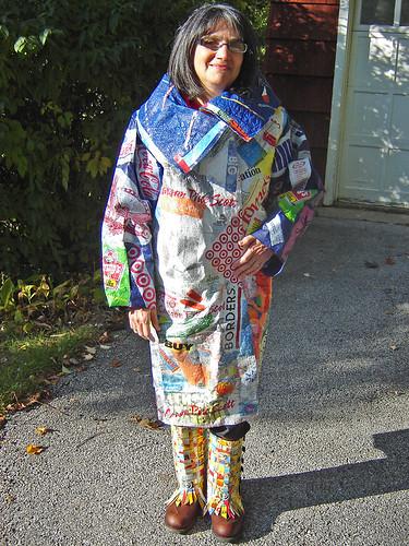 """""""21st Century Fusion"""" fused plastic bags coat ~ photo 19"""