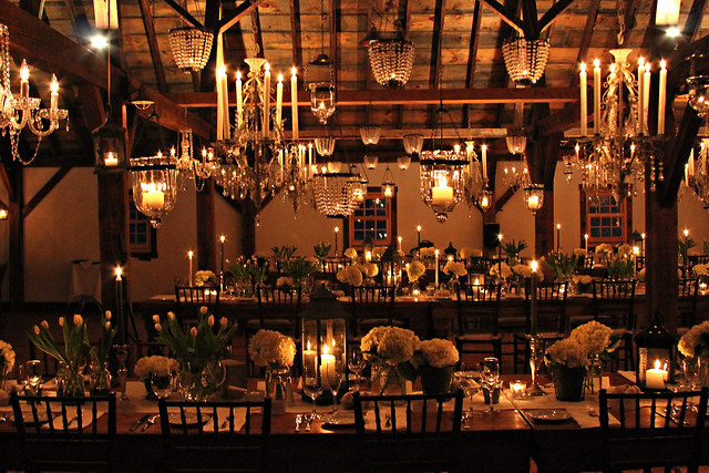 Riverside October Barn- Chandeliers