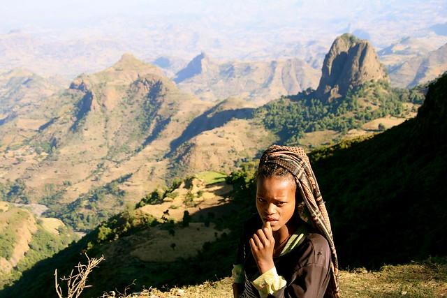Montañas Simien, macizo de Abisinia, Etiopía.