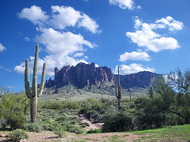 Siphon Draw from Lost Dutchman State Park - Superstition Wilderness