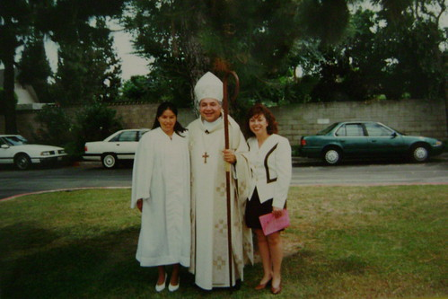 My confirmation with Bishop Gabino Zavala