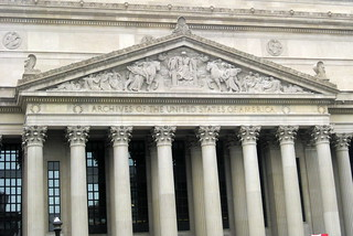 Washington DC - Federal Triangle: National Archives Building - Destiny Pediment