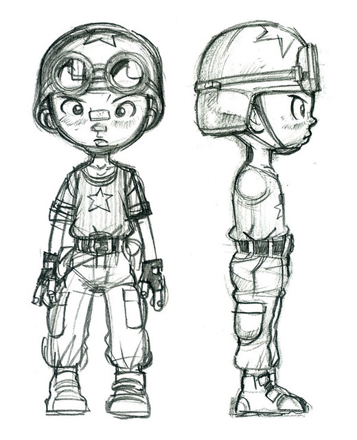 Comic Book Character Design : Character design for comic book tank boy explore