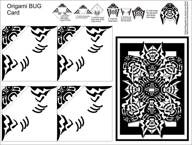 origami bug card instructions