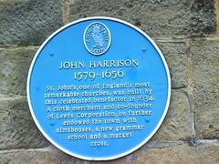 Photo of John Harrison blue plaque