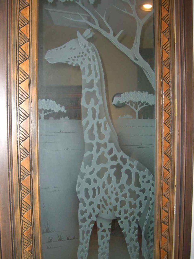 Etched decorative architectural art glass door somali for Architectural glass art