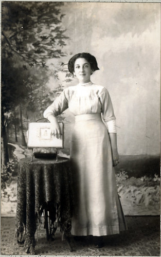 woman long dress